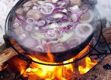 Het koken Chorba Royalty-vrije Stock Foto