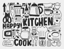 Het koken en keukenachtergrond Stock Foto