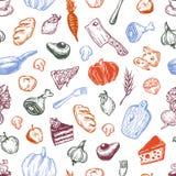 Het koken en keukengereedschap Stock Afbeeldingen