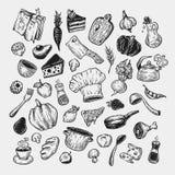 Het koken en keukengereedschap Royalty-vrije Stock Fotografie