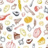 Het koken en keukengereedschap Stock Fotografie