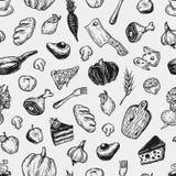 Het koken en keukengereedschap Patroon Stock Foto