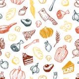 Het koken en keukengereedschap Patroon Stock Afbeeldingen