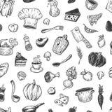 Het koken en keukengereedschap Patroon Stock Foto's