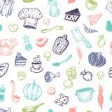 Het koken en keukengereedschap Patroon Stock Fotografie