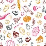 Het koken en keukengereedschap Patroon Royalty-vrije Stock Afbeelding