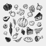 Het koken en keukengereedschap reeks Stock Fotografie