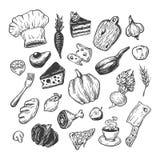Het koken en keukengereedschap reeks Royalty-vrije Stock Fotografie