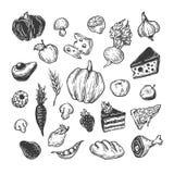 Het koken en keukengereedschap reeks Royalty-vrije Stock Afbeeldingen