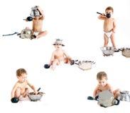 Het koken kindinzameling Royalty-vrije Stock Afbeeldingen