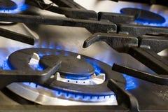 Het koken met Gas royalty-vrije stock afbeelding