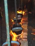 Het koken op de brand Royalty-vrije Stock Fotografie