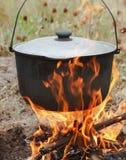 Het koken in openlucht Royalty-vrije Stock Foto's