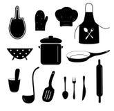 Het koken pictogramreeks royalty-vrije illustratie