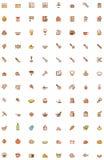 Het koken pictogramreeks Stock Foto's