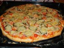 Het koken, pizza Stock Fotografie