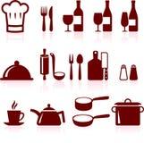 Het koken puntenInternet pictograminzameling Royalty-vrije Stock Foto