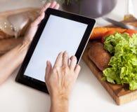 Het koken, technologie en huisconcept Stock Afbeeldingen