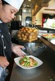 Het koken van de chef-kok Stock Foto