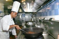 Het koken van de chef-kok Royalty-vrije Stock Fotografie