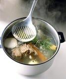 Het koken van de groenten Stock Afbeeldingen