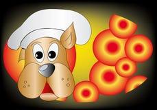 Het koken van de hond Stock Illustratie