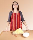 Het koken van de huisvrouw Royalty-vrije Stock Fotografie
