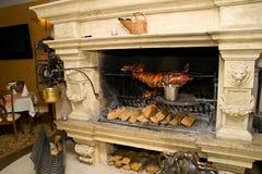 Het koken van de open haard Stock Foto's