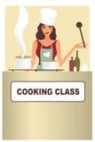 Het koken van de vrouw Royalty-vrije Stock Afbeelding