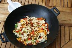 Het koken van de wok Stock Fotografie
