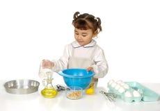 Het koken van het jonge geitje Royalty-vrije Stock Foto