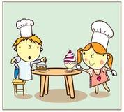Het Koken van kinderen Royalty-vrije Stock Afbeelding
