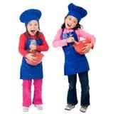 Het Koken van kinderen Stock Foto's