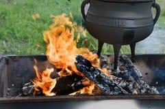 Het koken van natuurvoeding in de zomer Stock Fotografie