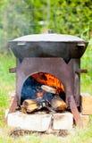 Het koken van soep Chorba in Kazan Royalty-vrije Stock Foto