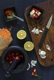 Het Koken van Vegeterian stock foto
