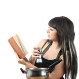 Het koken van vrouwen Stock Fotografie
