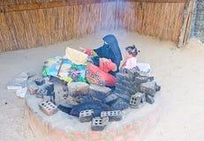 Het koken in woestijn Royalty-vrije Stock Afbeeldingen