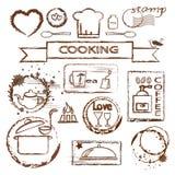 Het koken zegelreeks Royalty-vrije Stock Afbeeldingen