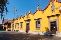 Het koloniale Stadhuis in Coyoacan in Mexico-City royalty-vrije stock foto