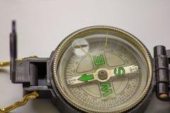 Het kompas een waardevol instrument eens om te navigeren, het wijst op de manier, de richting een kompas voor het leven zou verei stock fotografie