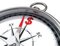 Het kompas van de dollar Royalty-vrije Stock Foto
