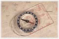 Het kompas van de kaart Royalty-vrije Stock Afbeeldingen
