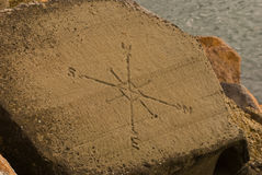 Het Kompas van de rots Stock Foto