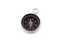 Het kompas van het chroom stock afbeelding