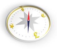 Het kompas van het geld Royalty-vrije Stock Afbeelding