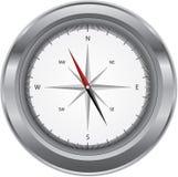 Het kompas van het metaal Stock Fotografie