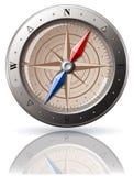 Het Kompas van het staal Stock Fotografie