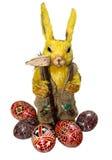 Het konijn & de eieren van Pasen Stock Foto