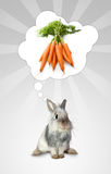 Het konijn denkt Stock Fotografie
